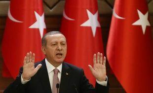 Le président turc Erdogan lors d'un discours le 26 novembre 2015 à Ankara
