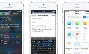 Apple a présenté iOS, qui sortira à l'automne, le 2 juin 2014.