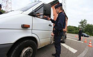 Strasbourg le 27 mai 2015. Contrôles de police à la recherche de metaux voles.
