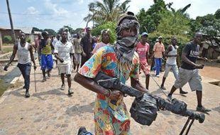 Des manifestants hostiles au président burundais Pierre Nkurunziza à Bujumbura le 26 mai 2015