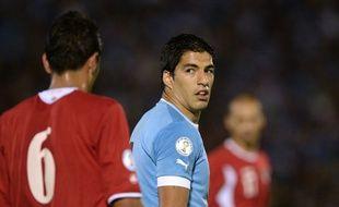 L'attaquant de l'Uruguay Luis Suarez, le 20 novembre 2013 contre la Jordanie.