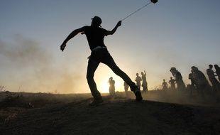 Illustration d'affrontements entre Palestiniens et soldats israéliens à Gaza le 14 octobre 2015.