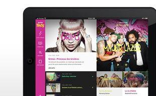 L'application mobile dédiée à l'émission «Tracks».