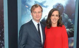 Christopher Nolan et son épouse Emma Thomas à la première new-yorkaise de Dunkerque.