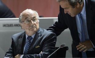 Joseph Blatter et Michel Platini le 25 septembre 2015 à Zurich