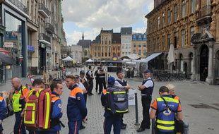 La Grand-place de Lille a été évacuée pendant une heure.