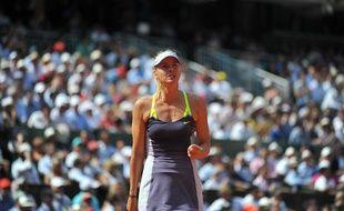 La joueuse russe Maria Sharapova lors d'un match à Roland-Garros le 5 juin 2013.