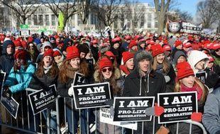 Des manifestants anti-avortement participent à la «Marche pour la Vie»  à Washington, le 22 janvier 2014.