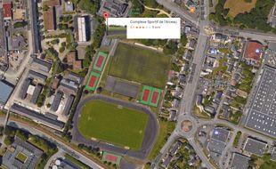 Les deux terrains du stade de l'Arceau à Angers.
