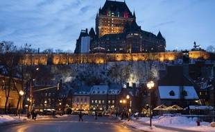 Le château Frontenac dans la ville de Québec, au Canada.