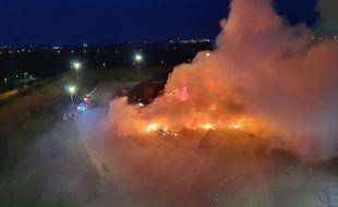 Incendie du site GDE de Montoir-de-Bretagne, dans la nuit du 13 au 14 mai 2020.