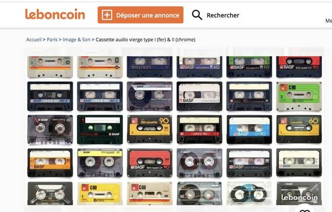 Des cassettes audio en vente sur le Bon Coin.