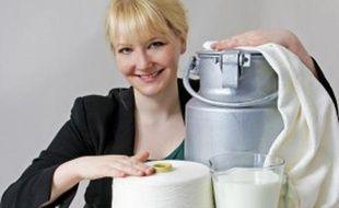 Anke Damske créé des vêtements à base de fibre de lait.