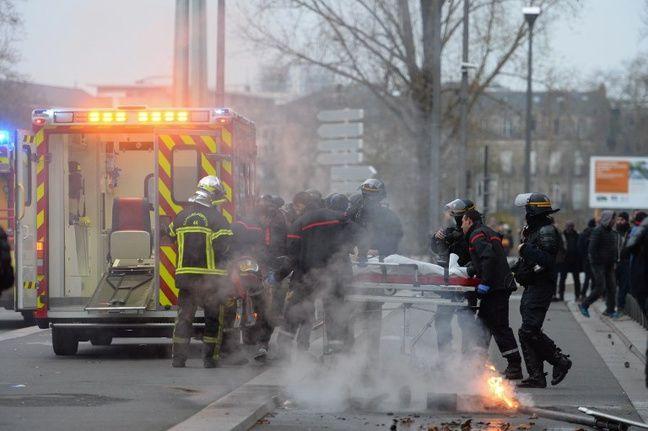 Adrien a été blessé lors de la manifestation du 29 décembre à Nantes