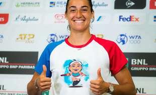 Comme à Parme, Caroline Garcia avait le sourire à Strasbourg.
