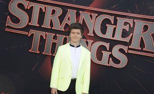 L'acteur de la série Strangers Things Gaten Matarazzo pour la présentation de la saison 3 à Los Angeles, le 29 juin 2019.
