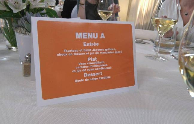Le menu de Franck Pelux.