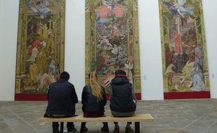 Les tapisseries rescapées sont exposées jusqu'en mai au musée des Beaux-Arts de Rennes.