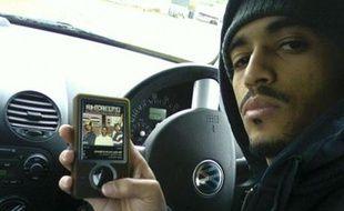 Un lecteur de musique MP3.