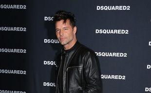 Le chanteur Ricky Martin à Las Vegas
