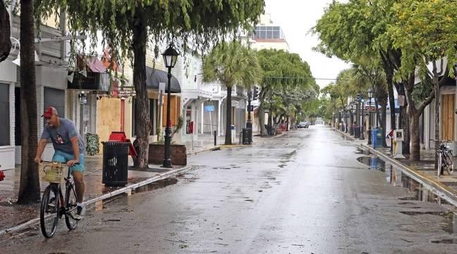 Une rue désertée de Key West (Floride) avant l'arrivée de l'ouragan Irma, le 9 septembre 2017. – Charles Trainor Jr./AP/SIPA