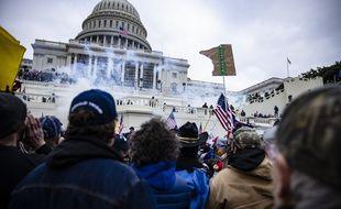 Des partisans de Trump ont fait irruption dans le Capitole, à Washington, mercredi 6 janvier 2021.