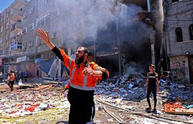 648x415 pompier palestinien coordonne action secours apres frappe israelienne rafah sud bande gaza 15 mai 2021