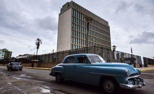 L'ambassade des Etats-Unis à La Havane, le 29 septembre 2017 après que le pays a retiré la moitié de ses employés à la suite d'une mystérieuse attaque.