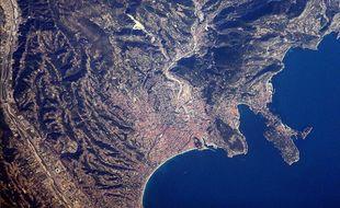 La Côte d'Azur photographiée depuis l'espace par Thomas Pesquet.