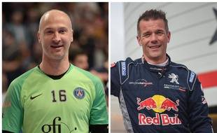 Thierry Omeyer (à gauche) et Sébastien Loeb (à droite)