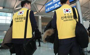 Une équipe de secouristes sud-coréens a été envoyée sur place.