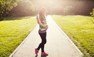 Illustration d'une femme enceinte
