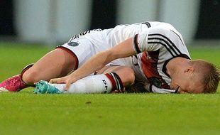 Marco Reus, blessé contre l'Arménie le 6 juin 2014.