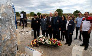 Une cérémonie lors de la journée nationale d'hommage aux Harkis, à Rivesaltes le 25 septembre 2019 (illustration).