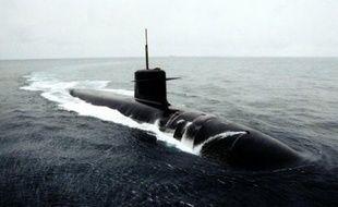 Le sous-marin français «Le Triomphant»