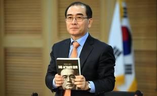 Thae Yong-ho, qui a fui la Corée du Nord, s'exprime le 14 mai 2018 à Séoul.