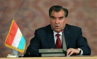 Le président du Tadjikistan Emomali Rakhmon à Téhéran, le 5 août 2010