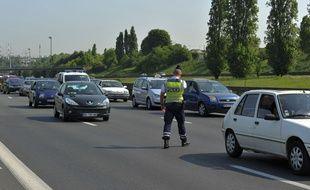 Contrôle routier lors des départs en vacances en 2018 sur l'A7