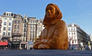 La gare de Lille Flandres. parvis rénove de la gare Lille Flandres.