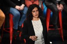 Manon Aubry à Bordeaux, le 29 avril 2019.