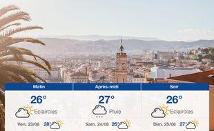 Météo Nice: Prévisions du jeudi 22 août 2019