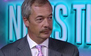 Nigel Farage, leader britannique pro-Brexit lors d'une interview le 12 août 2016.