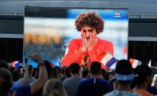 A Paris, 20.000 personnes se sont retrouvées sur le parvis de l'Hôtel de Ville pour regarder ensemble la demi-finale France-Belgique.