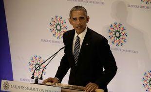 Barack Obama à un sommet des dirigeants mondiaux sur les réfugiés à New York, le 20 septembre 2016.