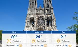 Météo Reims: Prévisions du mardi 20 juillet 2021
