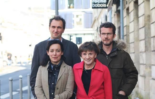 De gauche à droite: les élus socialistes de Bordeaux Emmanuelle Ajon, Michèle Delaunay, Vincent Feltesse et Nicolas Guenro