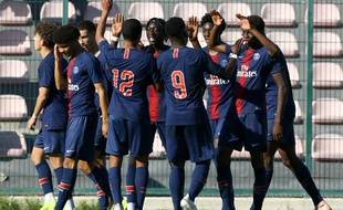 L'équipe du PSG en Youth League, face à Naples, le 6 novembre 2018.