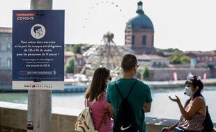Le port du masque est obligatoire à Toulouse depuis le 21 août pour lutter contre l'épidémie de coronavirus.