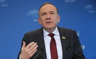 Pierre Gattaz, le président du Medef, le 15 avril 2014 à Paris