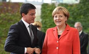 Manuel Valls accueilli par Angela Merkel le 22 septembre 2014 à Berlin